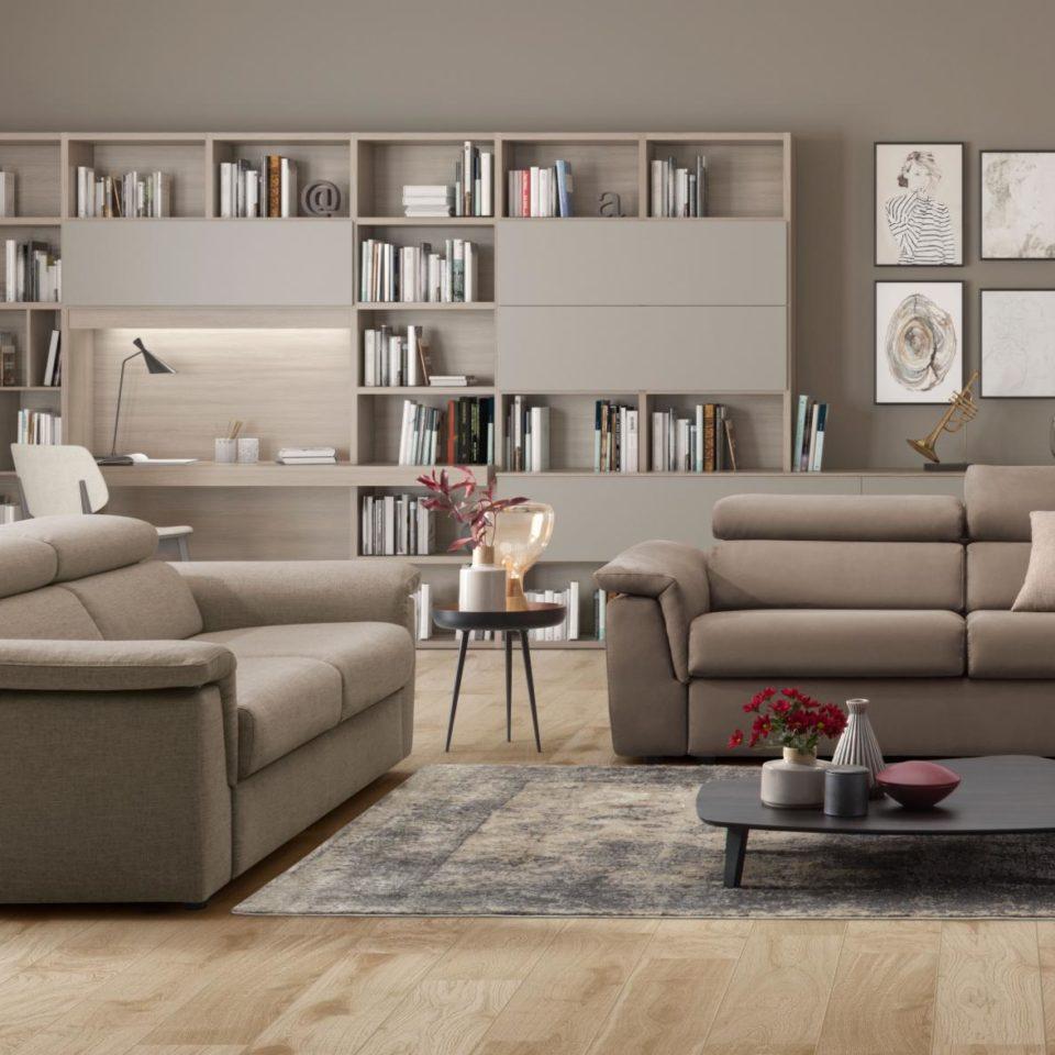 Arredamento d'interni zona giorno: divano Colombini Fusion