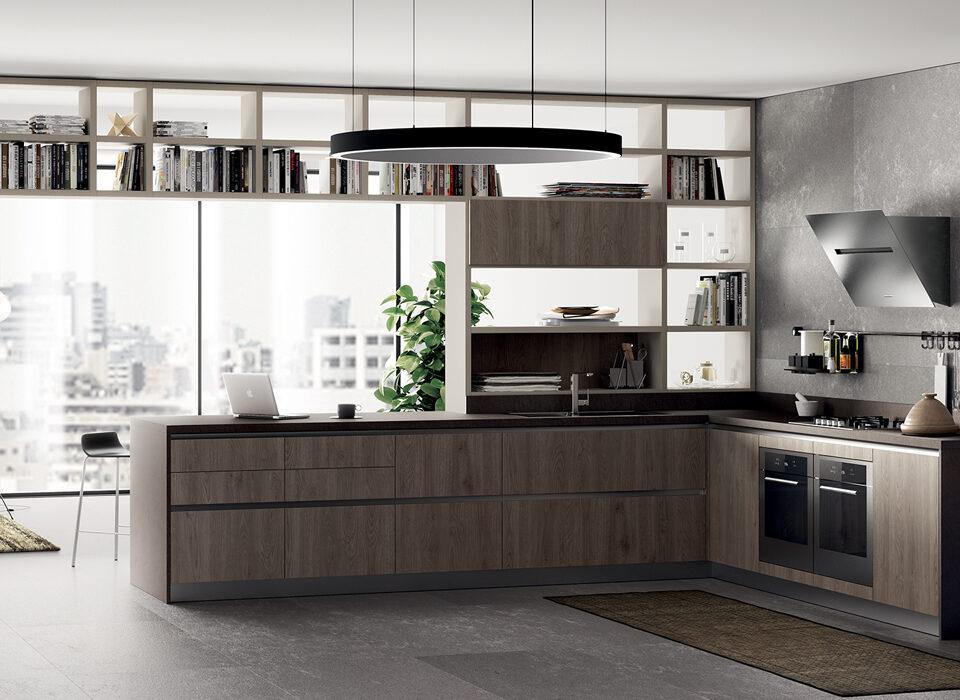 Mobili Lazzeretti, arredamenti zona giorno: cucina Scavolini LiberaMente