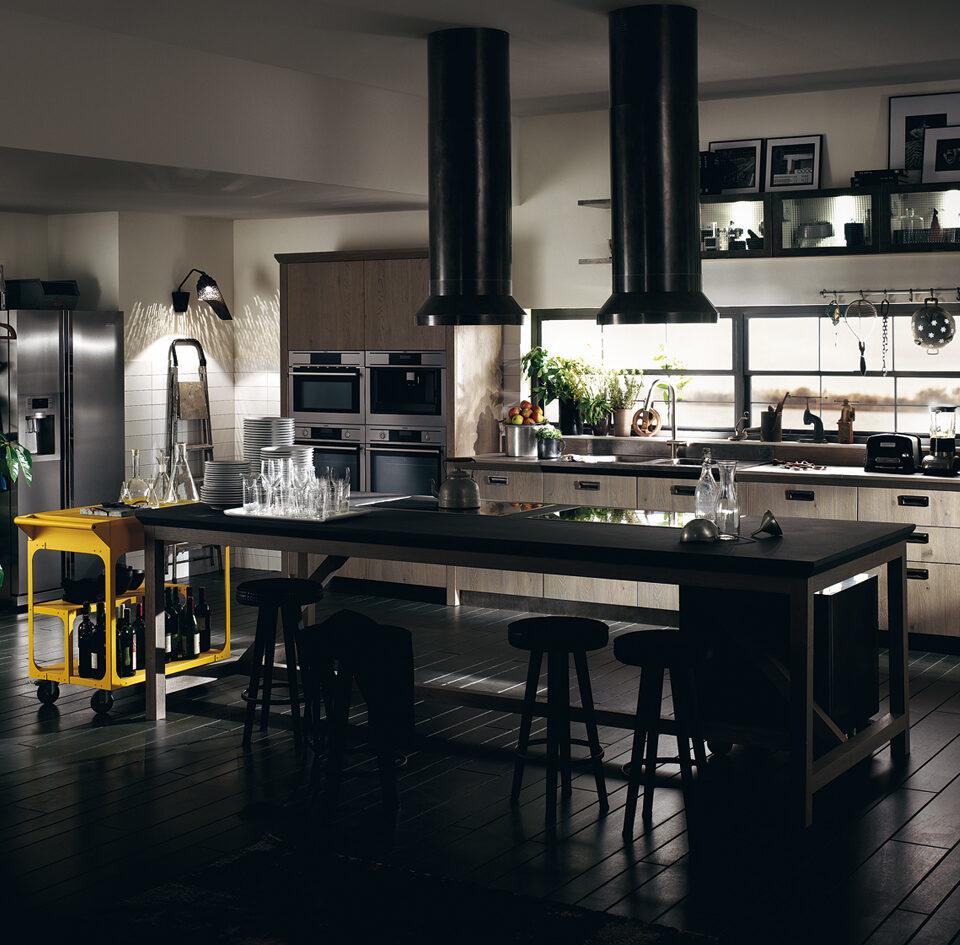 Mobili Lazzeretti, arredamento zona giorno: cucina Scavolini Diesel